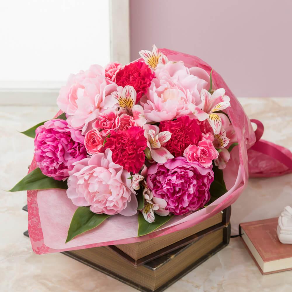 【母の日フラワーギフト】花束「芍薬美人」