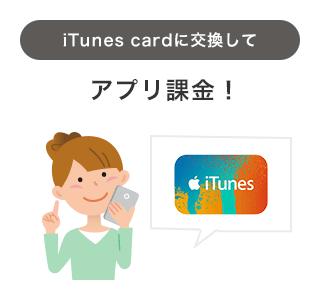 iTunes cardに交換して アプリ課金!