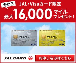 kokangenwaku_JALカード(VISA) 普通カード (申込時にショッピングマイル・プレミアムの入会必須)
