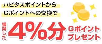 獲得した2%分Gポイントプレゼント